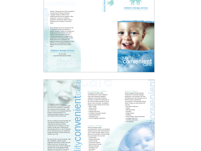 Children's Therapy Services : Tri-Fold Brochure