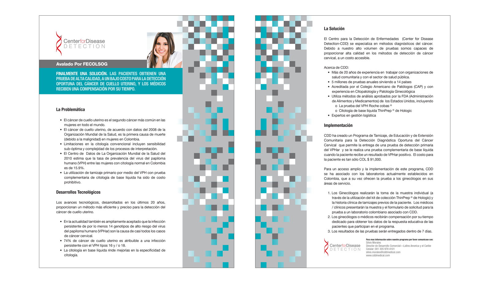 Center for Disease Detection : Marketing Sheets