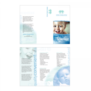 Children's Therapy Services : Tri-Fold Brochure