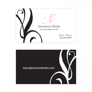 Glamorous Brides : Business Card