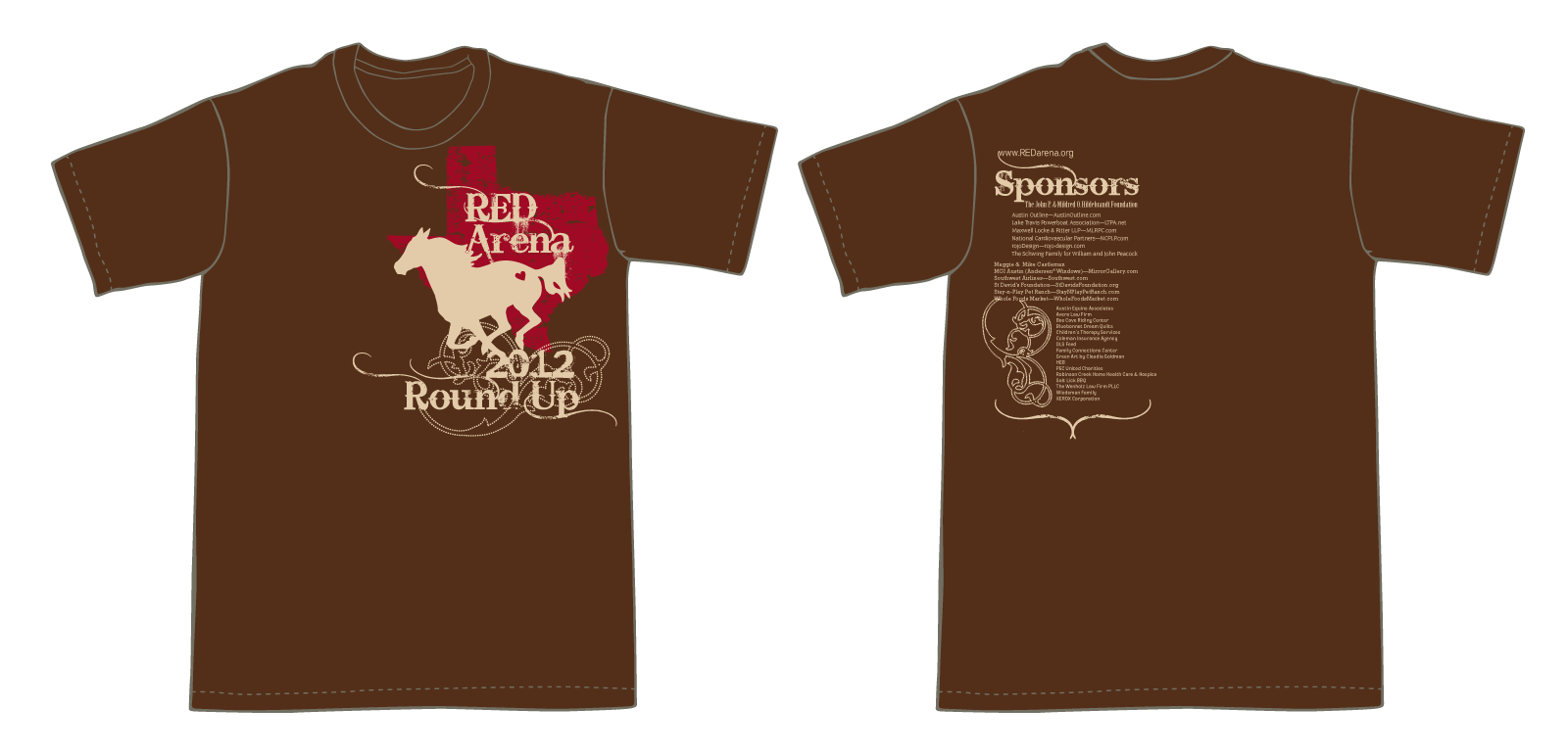 RED Arena : T Shirt – Round Up 2012