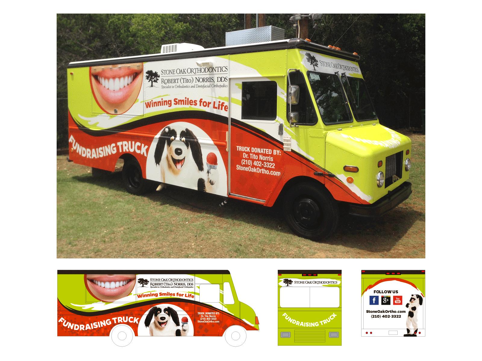 Stone Oak Orthodontics : Truck Wrap