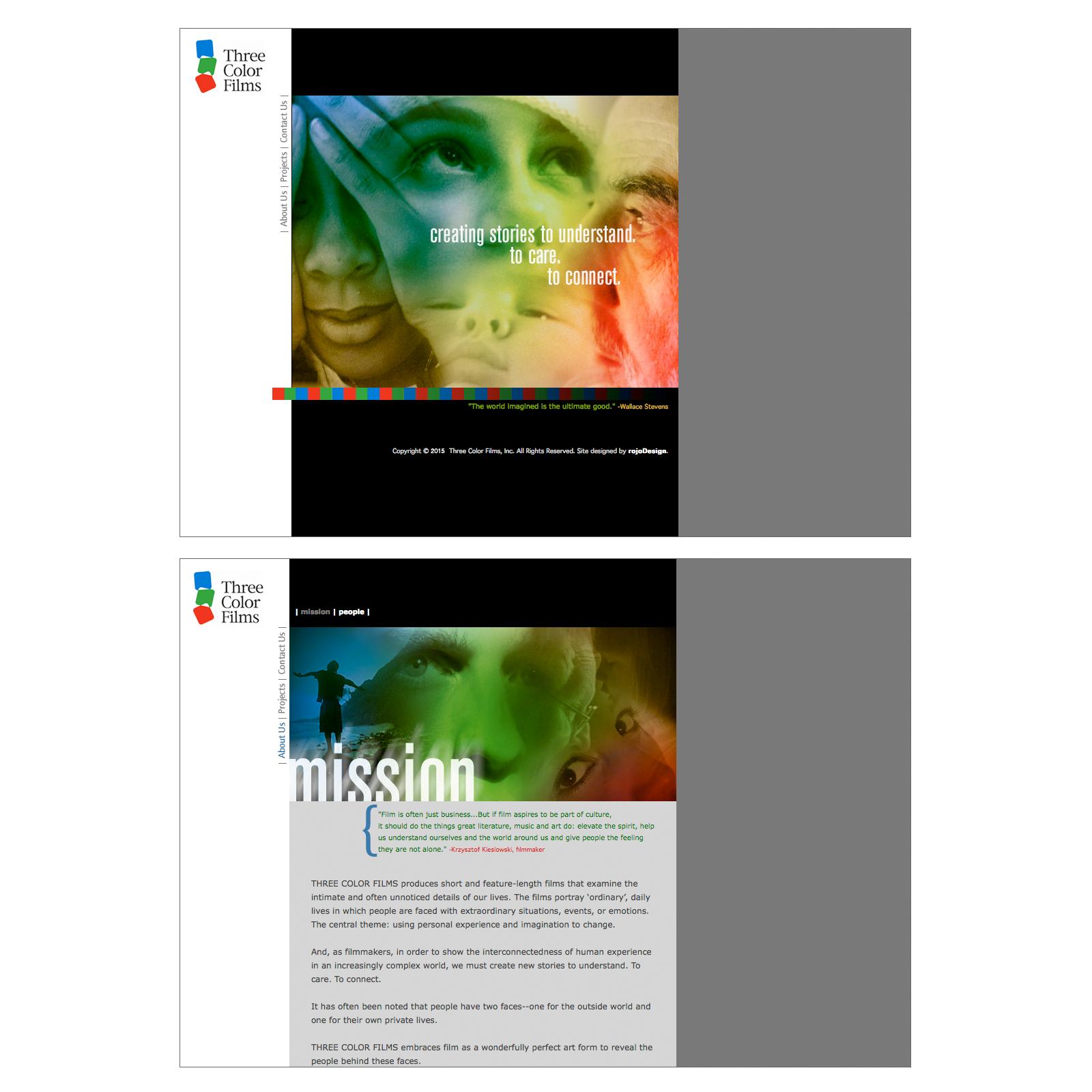 Three Color Films : Website